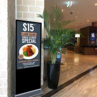 Freestanding digital entry sign image