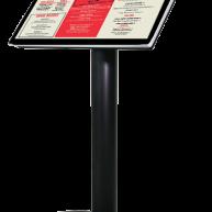 Freestanding digital menu image