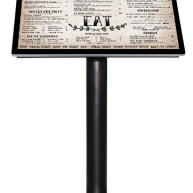 Freestanding menu display sign image