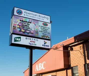 Abermain Bowling Club dynamic sign image