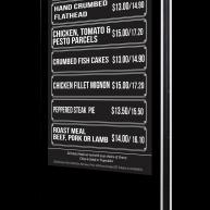 Diggers Brasserie freestanding menu sign board image