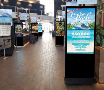 LCD advertising displays at Panthers Port Macquarie